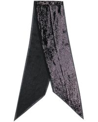 Saint Laurent スパンコール スカーフ Black