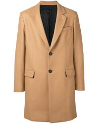 AMI - Brown Two Button Coat for Men - Lyst