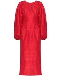 Vestito midi di Rasario in Red