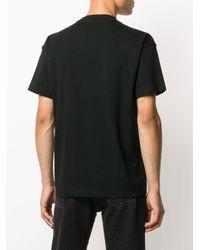 T-shirt con stampa di Palm Angels in Black da Uomo