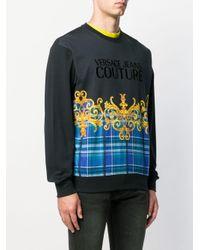 Felpa con stampa di Versace Jeans in Multicolor da Uomo
