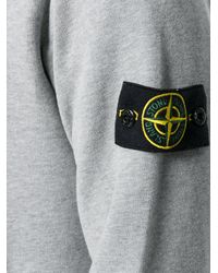 Stone Island - Gray Classic Hoodie for Men - Lyst