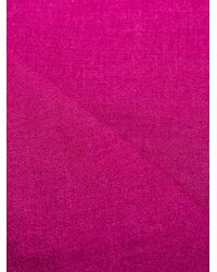 Faliero Sarti フリンジ スカーフ Purple