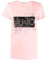 Liu Jo ロゴ Tシャツ Pink