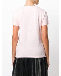 KENZO Pink Logo Floral T-shirt