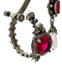 Alexander McQueen Metallic Multi Earring