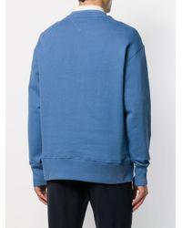 メンズ Tommy Hilfiger ロゴパッチ セーター Blue