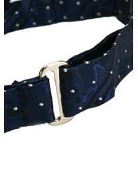 Etro Blue Polka-dot Bow Tie for men