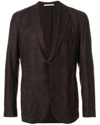 Eleventy | Red Tartan Check Blazer for Men | Lyst