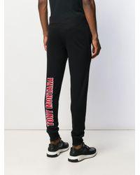 Pantaloni sportivi con coulisse di Philipp Plein in Black da Uomo