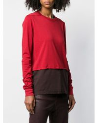 Rick Owens Drkshdw レイヤード トップ Red