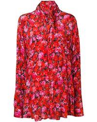 Эксклюзивно На Farfetch - Блузка С Цветочным Принтом Balenciaga, цвет: Red
