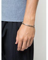 M. Cohen Metallic Line Detail Cuff Bracelet for men