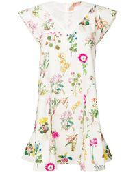 N°21 Multicolor Lace Panel Floral Dress