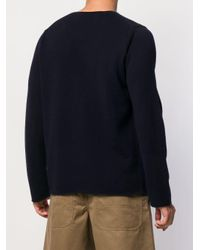 メンズ COMME DES GARÇONS PLAY ハートロゴ セーター Blue