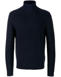 PS by Paul Smith - Blue High-neck Sweater for Men - Lyst