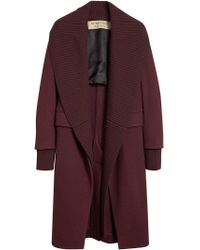 Burberry - Red Cashmere Detachable Collar Coat for Men - Lyst