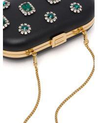 Prada Black Jewel Appliqué Clucth