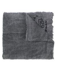Rundholz Black Label Sjaal Met Print in het Gray