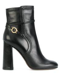 L'Autre Chose - Black Stitch Detailed Ankle Boots - Lyst