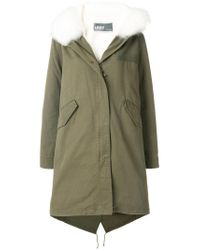 Army by Yves Salomon | Green Fur-trim Parka Coat | Lyst