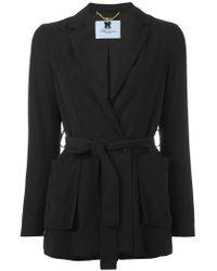 Blumarine - Black Tie-waist Blazer - Lyst