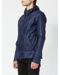 Giorgio Brato Blue Panelled Hooded Jacket for men