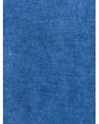 DIESEL Blue V Neck Flared Top