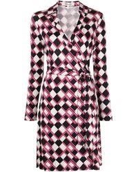 Diane von Furstenberg Jeanne ラップドレス Multicolor
