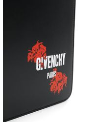 Givenchy - Black Logo Printed Pouch for Men - Lyst