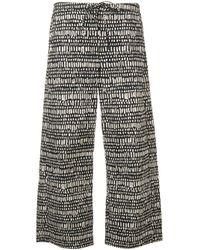 Max Mara Black Printed Drawstring Trousers