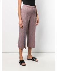Pleats Please Issey Miyake Brown Plissé Trousers