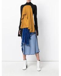 Paula Knorr Black Longsleeved Drape Dress