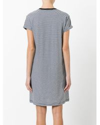 T By Alexander Wang   Black Striped T-shirt Dress   Lyst