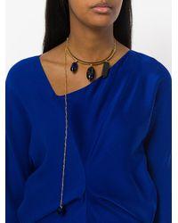 Marni - Metallic Asymmetric Necklace - Lyst