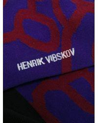 Henrik Vibskov アブストラクト靴下 Purple