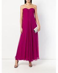 Alexander McQueen プリーツ イブニングドレス Purple
