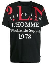 メンズ Philipp Plein Gold Cut P.l.n Tシャツ Black