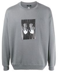 メンズ Marcelo Burlon Hands Square スウェットシャツ Gray