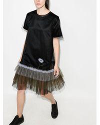 Платье-футболка Из Тюля Viktor & Rolf, цвет: Black