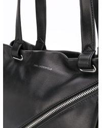 Borsa tote con zip di Karl Lagerfeld in Black