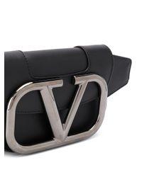 Valentino Garavani Black Small Vlogo Belt Bag for men
