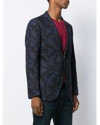 Blazer con motivo barroco Etro de hombre de color Blue