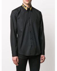 Рубашка С Вышивкой Baroque Versace для него, цвет: Black