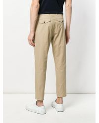 Les Hommes Natural Vertical Cuts Trousers for men