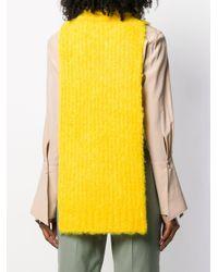 Erika Cavallini Semi Couture ノースリーブ ニットトップ Yellow