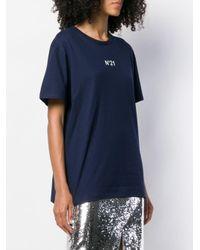T-shirt con stampa di N°21 in Blue