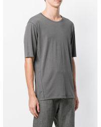 The Viridi-anne Gray Basic Plain T-shirt for men