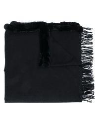 N.Peal Cashmere カシミア ショール Black