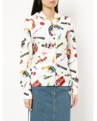 Hysteric Glamour - White Pop Gun Print Hoodie - Lyst